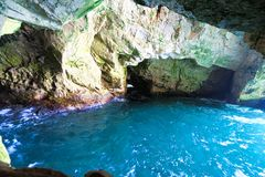 Caves of Rosh HaNikra in Israel Stock Images