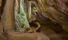 The caves of Sant Miquel del Fai Stock Image