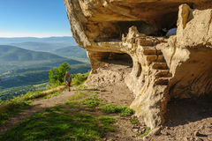 Caves at Tepe Kermen, Crimea Stock Image