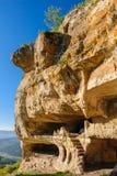 Caves at Tepe Kermen, Crimea Stock Image