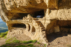 Caves at Tepe Kermen, Crimea Royalty Free Stock Photography