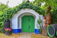 Caves traditionnelles - Plze, Petrov, République Tchèque, l'Europe Savoir et folklore de vin Caves de Moravian photographie stock libre de droits