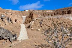 Caves of troglodytes in the Matmata area. Tunisia horizontally Royalty Free Stock Photos