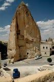 Cavetown antiguo cerca de Goreme, Cappadocia, Turquía Imagen de archivo