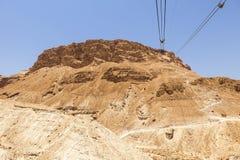 Cavi al plateau di Masada Fotografia Stock Libera da Diritti