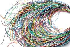 Cavi colorati isolati su un fondo bianco Fotografia Stock Libera da Diritti