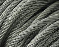 Cavi d'acciaio a macroistruzione Fotografia Stock