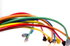 Cavi del Internet Fotografia Stock