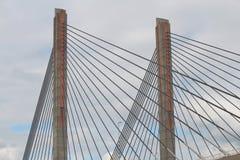 Cavi del ponte fotografia stock