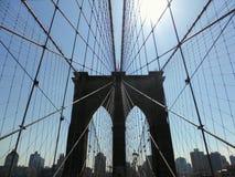 Cavi del ponte di Brooklyn Fotografie Stock Libere da Diritti