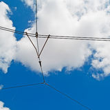 Cavi del tram Fotografia Stock Libera da Diritti
