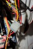 Cavi delle componenti del server e del computer Fotografia Stock Libera da Diritti