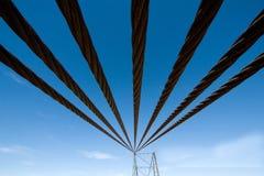 Cavi di acciaio Fotografia Stock Libera da Diritti