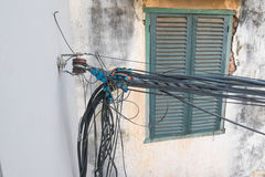 Cavi di comunicazione di complessità fotografia stock