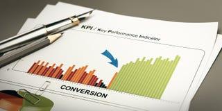 Cavi di convertito, conversione Rate Optimization Fotografia Stock