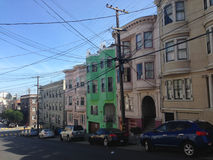 Cavi di elettricità a San Francisco Immagine Stock Libera da Diritti