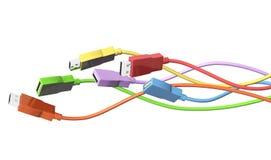 Cavi di USB Fotografia Stock Libera da Diritti