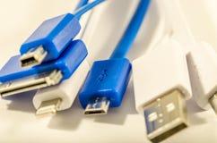 Cavi di USB Immagine Stock