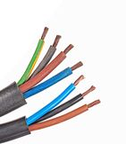 Cavi elettrici di rame Fotografia Stock Libera da Diritti