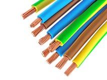 Cavi elettrici di rame Immagini Stock
