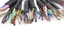 Cavi elettrici differenti fotografia stock