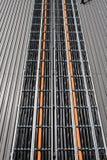 Cavi multiconduttori installati per il trasferimento Fotografie Stock