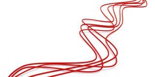 Cavi rossi a fibra ottica Immagine Stock