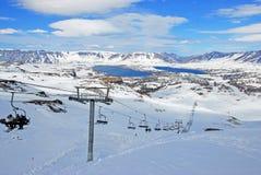 Caviahue滑雪中心,内乌肯省,阿根廷 免版税库存照片