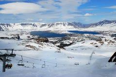 Caviahue Ski Center, Neuquen, Argentinië royalty-vrije stock foto's