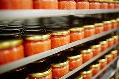 Caviale in barattoli Fotografia Stock
