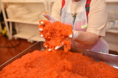 Caviale di color salmone fotografie stock libere da diritti