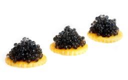 Caviale nero Fotografia Stock