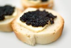 Caviale nero Immagini Stock