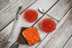 Caviale rosso Immagine Stock