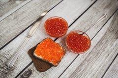 Caviale rosso Immagini Stock