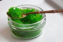 Caviale verde di Tobiko Fotografie Stock