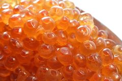 Caviar. Close up of red caviar Royalty Free Stock Images