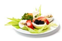 Caviar appetizers Stock Photo