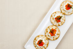Caviar appetizers Stock Image