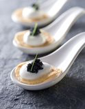 Caviar appetizers Stock Images