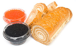 Caviar and bread Royalty Free Stock Photo