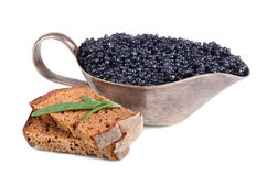 Caviar and bread Stock Images