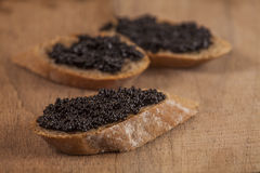 Caviar on bred Stock Photo