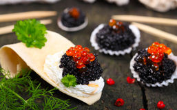 Caviar on the buffet Royalty Free Stock Images