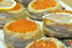 Caviar cakes Stock Photography