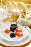 Caviar canape' Stock Image