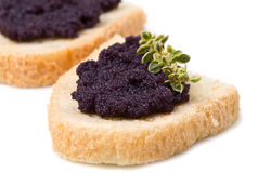 Caviar canape Royalty Free Stock Images