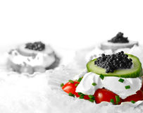 Caviar Canapes 2 Stock Photo