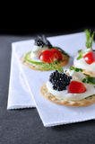 Caviar Canapes Stock Image