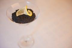 Caviar,caviare. A glass of caviar,caviare Royalty Free Stock Photography